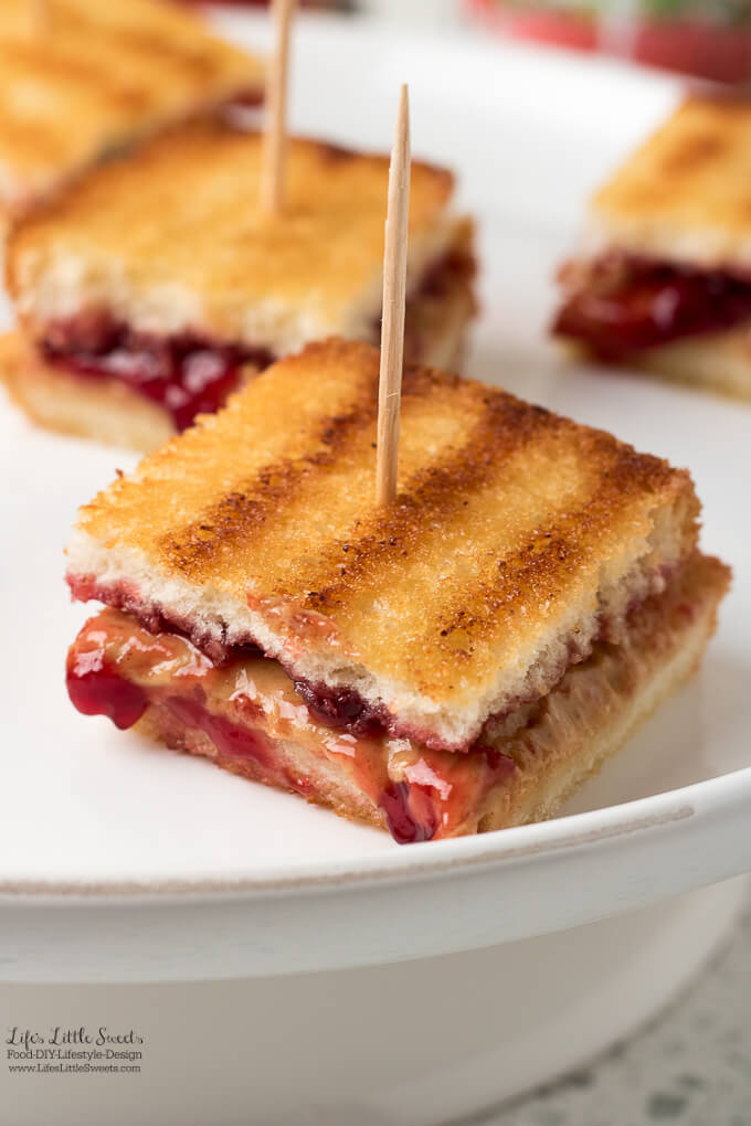 Grilled Peanut Butter and Jelly Sandwich Bites