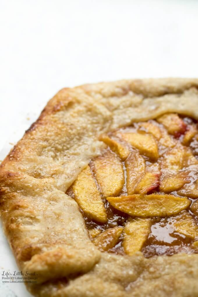 This Homemade Nectarine Galette has the sweet flavor of ripe, Summer nectarines in a flakey, butter-y homemade pastry crust.