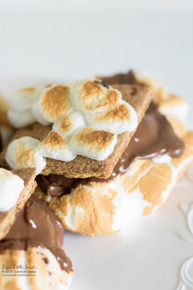 This Jumbo S'Mores Recipe is my XL version of s'mores! Kids of all ages can enjoy this chocolate-y, classic, dessert treat Summer and Fall or all year round!