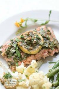 Sheet Pan Lemon Tarragon Salmon Dinner
