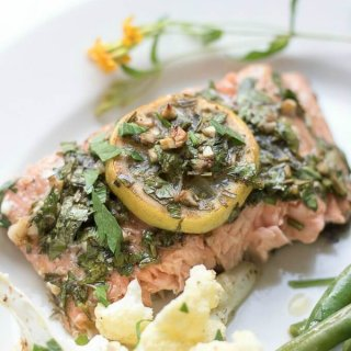 Sheet Pan Lemon Tarragon Salmon Dinner