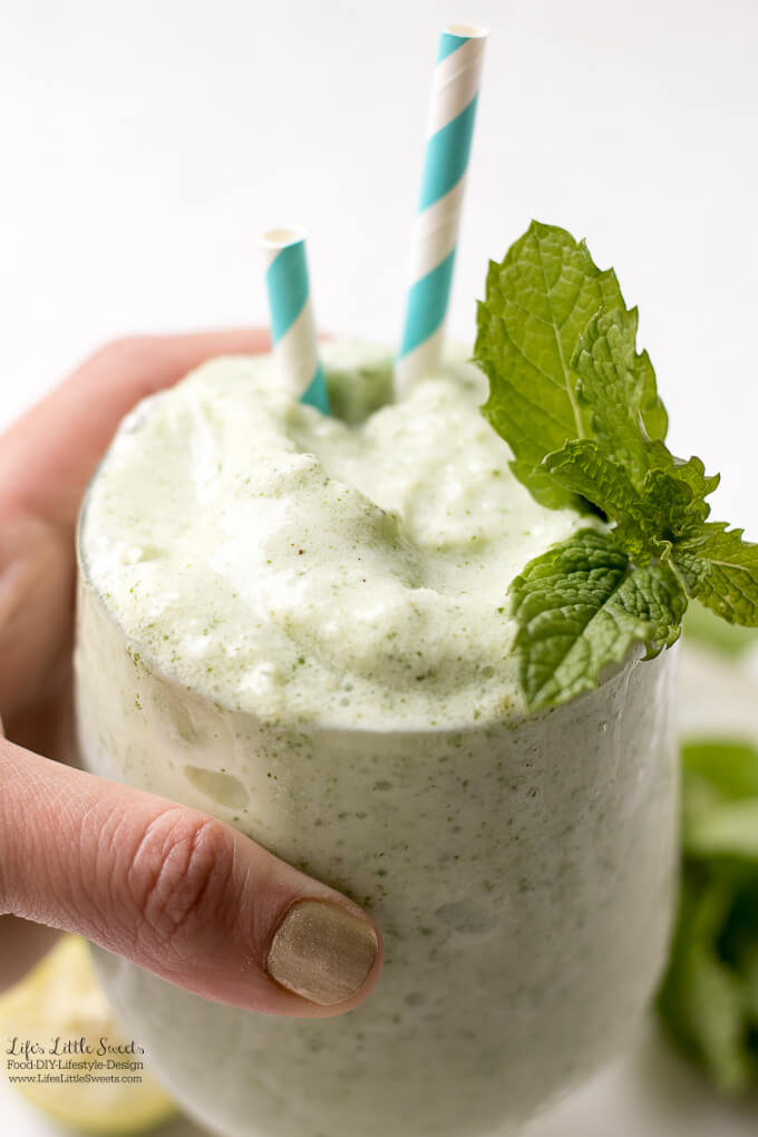 Frosted Mint Key Limeade is a creamy, fresh and frosty, frozen drink that cools you down when it's hot. (1-2 servings)