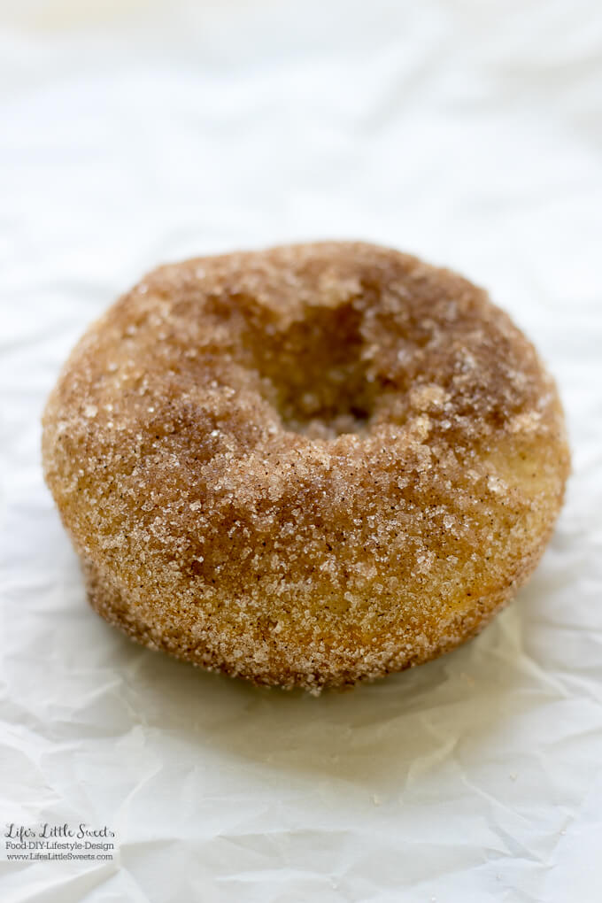 Cinnamon Sugar Baked Donuts are perfect for breakfast, brunch or dessert all year round. Seasoned with crunchy sugar and warm cinnamon, these soft and comforting treats go great with coffee or tea.