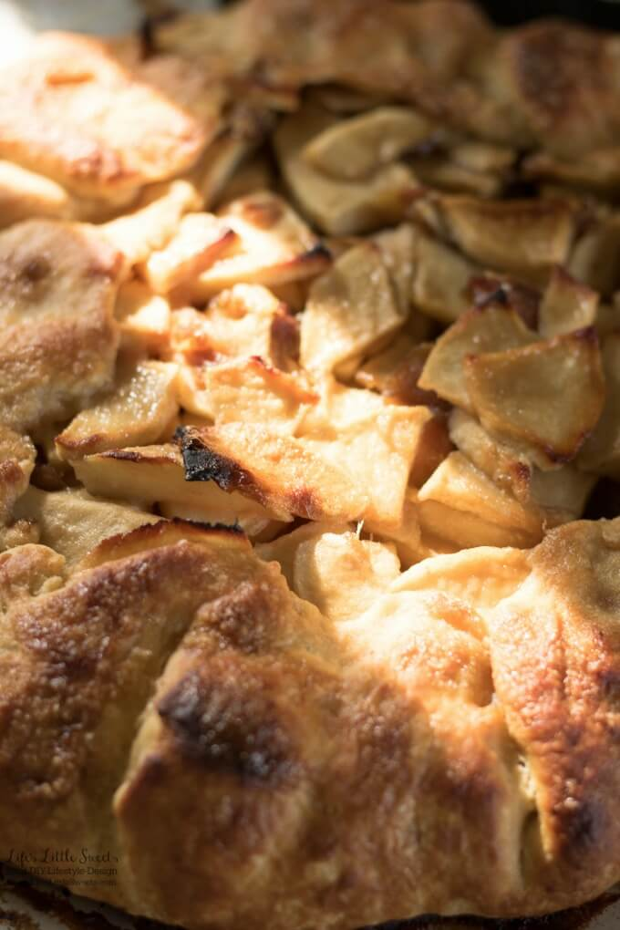"Apple Date Galette has Fall flavors of apples, cinnamon, brown sugar and dates. Enjoy this ""free-form"" pie without the fuss of a pie plate! Enjoy a slice with a scoop of vanilla ice cream! (6-8 servings)"