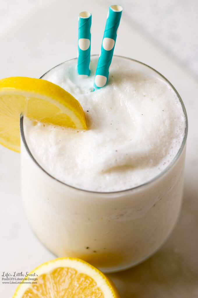 This Homemade Frosted Lemonade is a Chik-fil-a copycat recipe. It's sweet, creamy, lemon-y, refreshing and tasty!