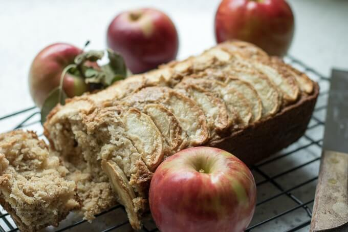 Homemade Apple Quick Bread is a Fall-inspired recipe with aromatic flavors like cinnamon, nutmeg and fresh-picked apples. Have a delicious slice with your morning coffee or tea.