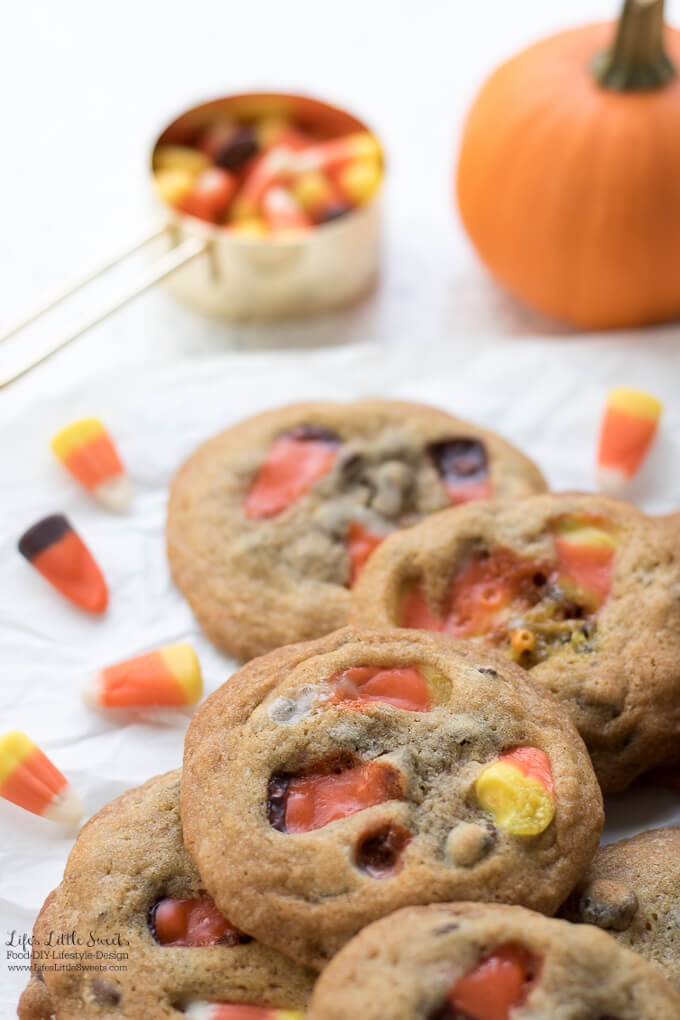Candy Corn Chocolate Chip Cookies Candy Halloween Fall