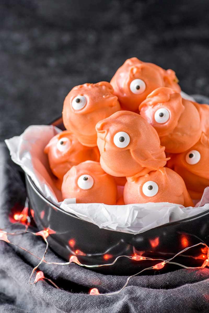 Halloween Recipes - Monster Halloween Truffles from Homemade Hooplah