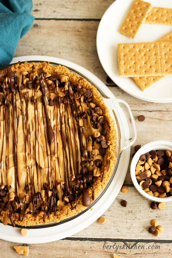 Pie Recipe Collection | Peanut Butter Lover's No Bake Pie from Berly's Kitchen