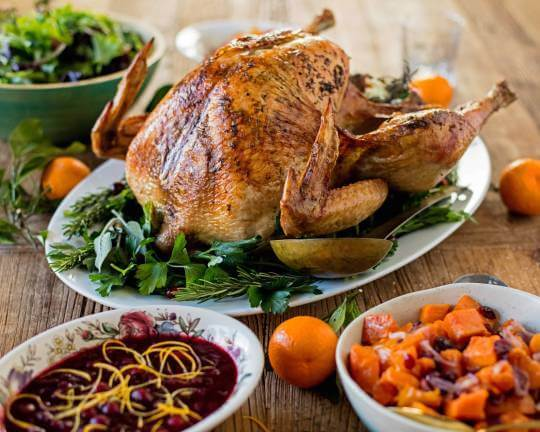 Dry Brine Herbed Butter Turkey | Friendsgiving Menu