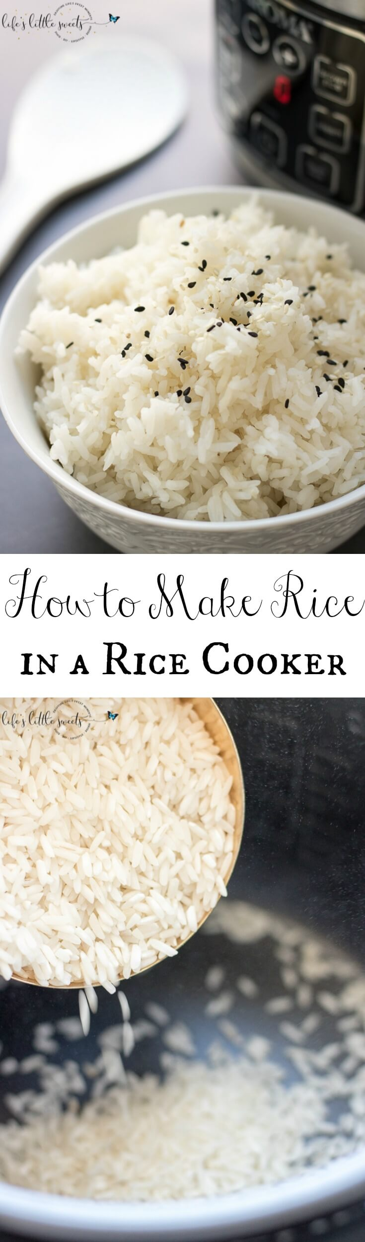 Do you know How to Make Rice in a Rice Cooker? Making rice this way is easy, less messy and frees up the stove top for cooking other food while preparing your meal. I wouldn't have it any other way! #rice #grain #ricecooker #appliance #whiterice #sidedish #side #ad