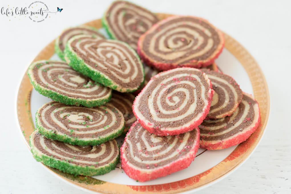 Christmas Pinwheel Cookies.Pinwheel Cookies Christmas Holiday Recipe Chocolate