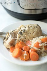 Instant Pot Chicken Carrots Brown Rice Dinner