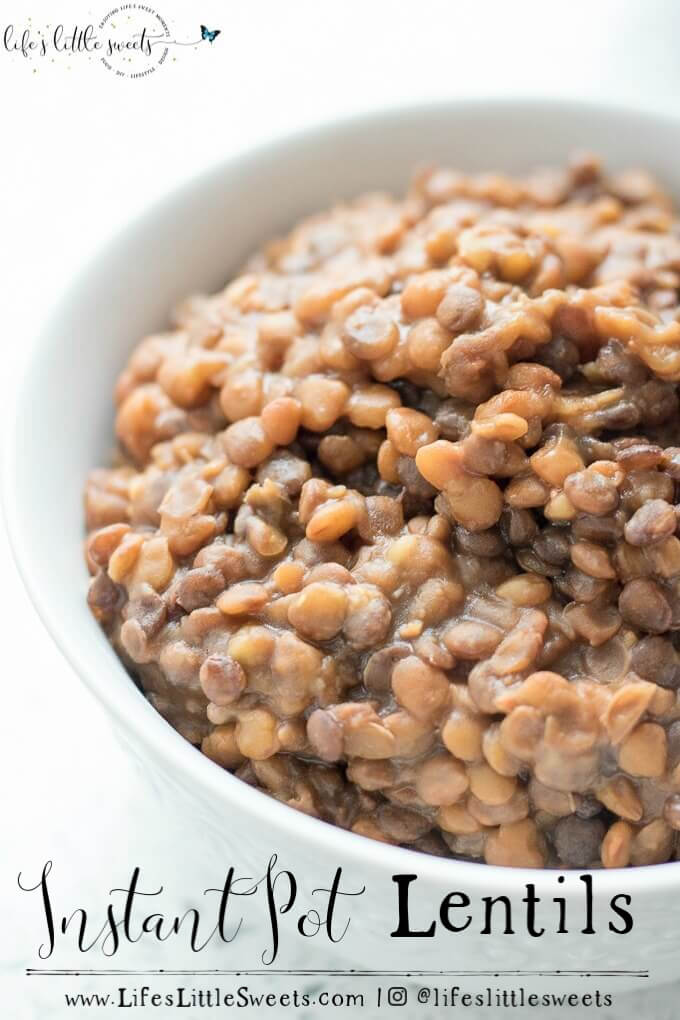 Making Instant Pot Lentils is so easy in our favorite pressure cooker, the Instant Pot. You can use these lentils to top salads, in wraps or as a side with dinner. So easy, healthy and delicious! (vegan option, gluten-free)