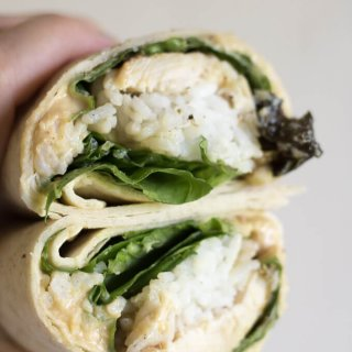 Chicken Rice Hummus Wrap