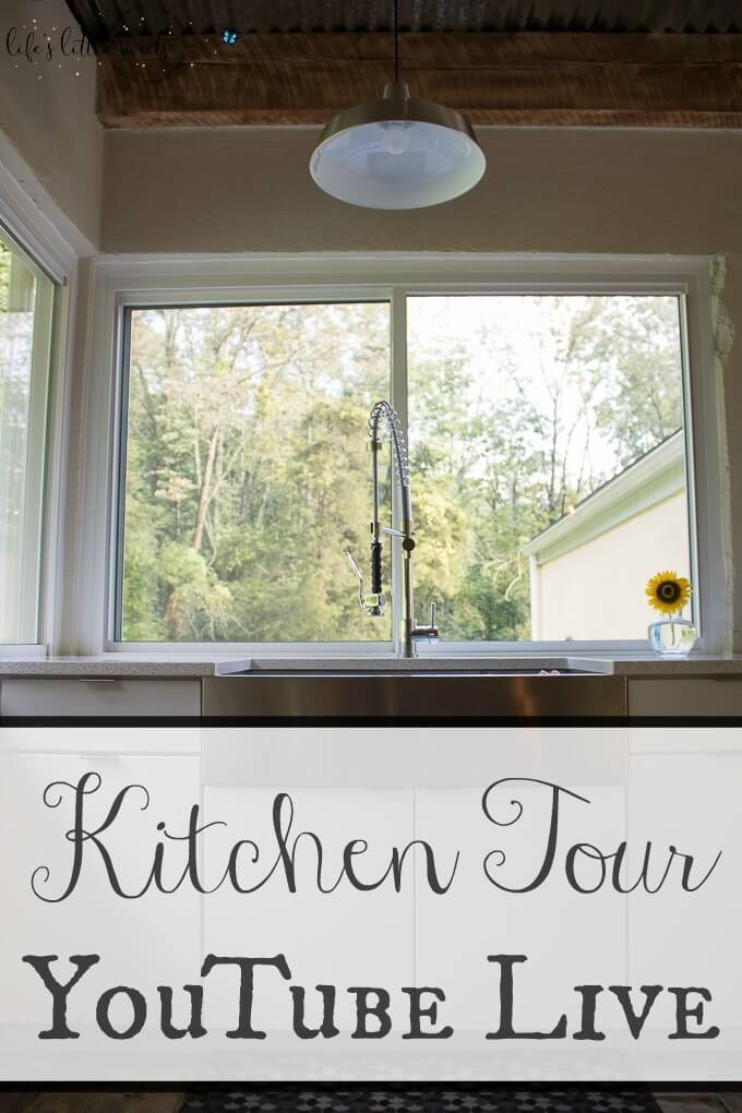 Kitchen Tour YouTube Live - Progress & Plans for the Future - Hosted by Sara. Sara give a progress tour of her renovated family kitchen where recipes from the blog are produced. #kitchen #kitchentour #modern #midcenturymodern #diykitchen #diy #lifestyleblogger, #foodblogger #kitchenrenovation