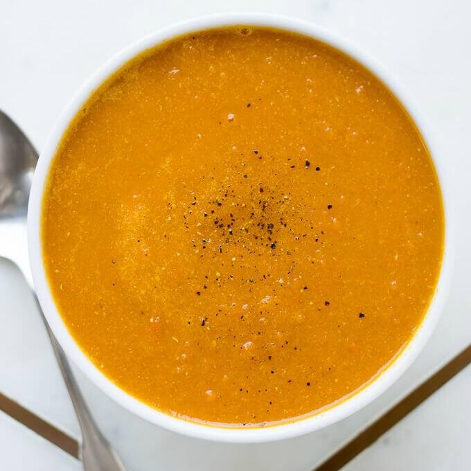 Homemade Carrot Ginger Soup