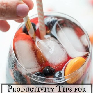 Productivity Tips for Working at Home + Sangria Mocktail