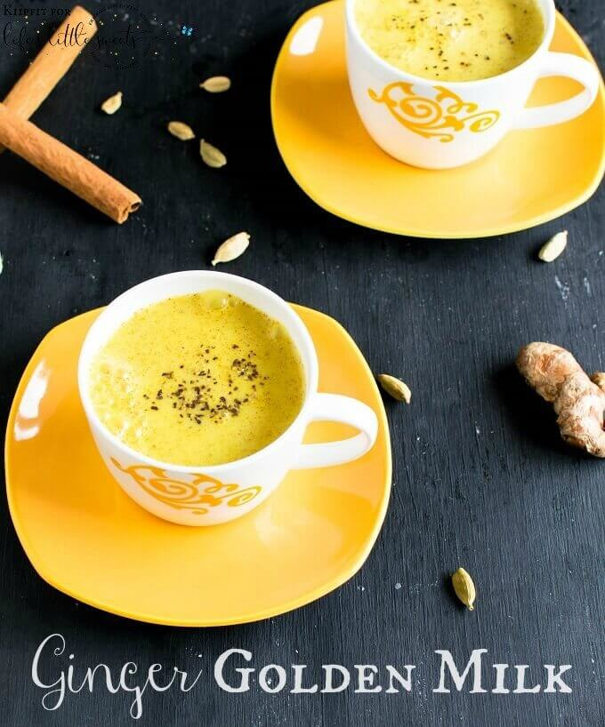 Ginger Golden Milk is loaded with anti – inflammatory properties and healing agents. Its vegan, paleo friendly and gluten free too. #goldenmilk #glutenfree #vegan #dairyfree #paleo #paleofriendly #drink #turmeric #ginger