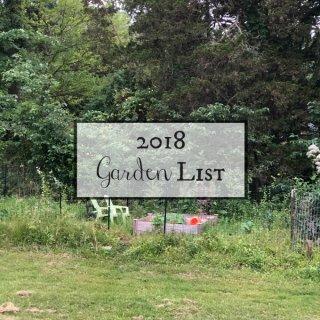 2018 Garden List