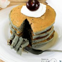 Cherry Oatmeal Pancakes