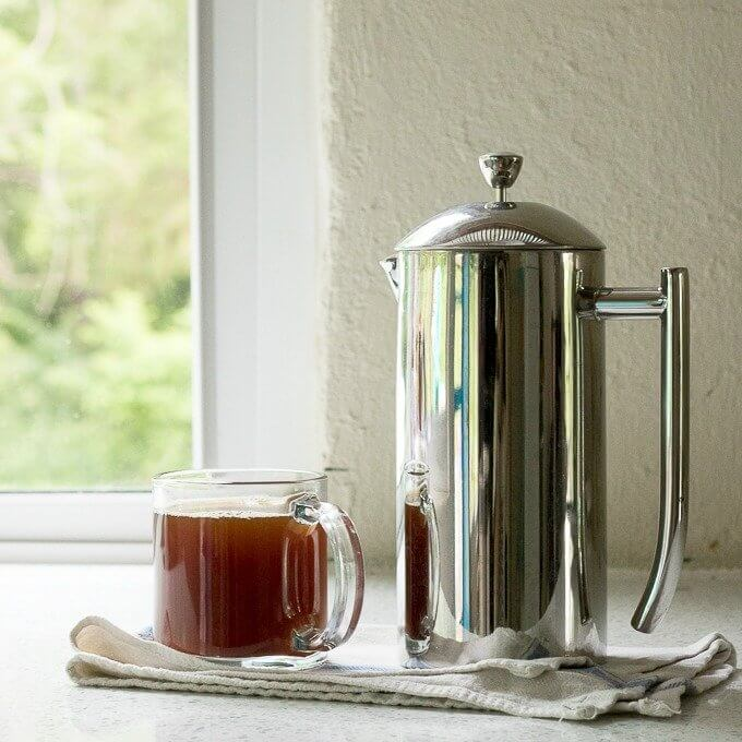French Press Coffee - coffee made in a French press is fresh, with low acidity with a full-bodied flavor. #coffee #Kenyacoffee #Frenchpress #tutorial #coffeeculture #oneuponedown