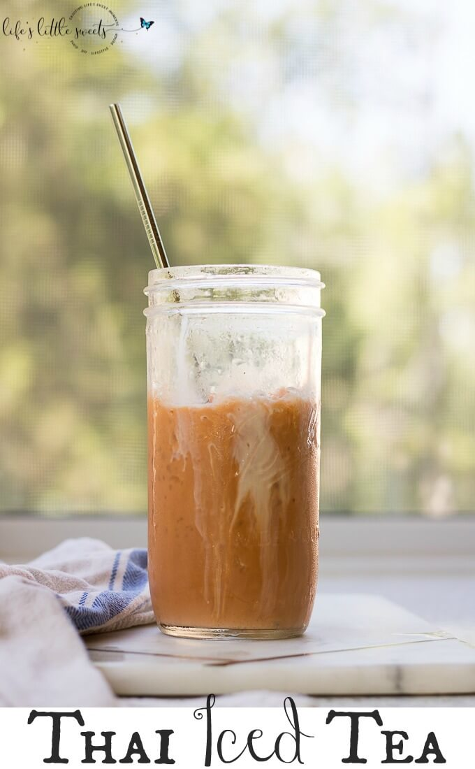 Thai Iced Tea is a strongly-brewed, smokey, black Thai tea, brewed hot, mixed with sugar (optional), sweetened condensed milk & evaporated milk and then quickly chilled by pouring over crushed iced, you can add more evaporated milk to add to it's creaminess before enjoying. #authentic #Thai #Thaiicedtea #blacktea #colddrink #sweetenedcondensedmilk #evaporatedmilk #sugar