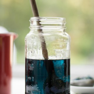 Blue Butterfly Pea Flower Simple Syrup