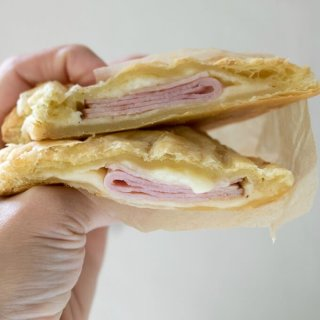 Cheesy Ham Puff Pastry Pockets on SoFabFood