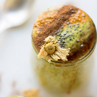 Chrysanthemum Golden Milk Chia Pudding