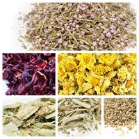bMAKER- Edible & Kosher Certified Dried Flowers Sampler: Passion Flowers, Hibiscus, Elder, Heather, Hops and Chrysanthemum Flowers - Best for Culinary, and DIY Soap Making, Bath Bomb & Crafts