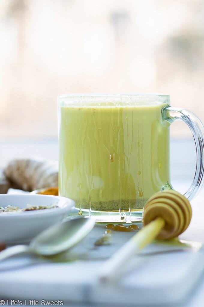 This Hops Golden Milk recipe is a hot, comforting, spiced drink that can have relaxing effects due to the infusion of hops flowers. Hops flowers are known for calming nerves and promotes relaxation. Enjoy this delicious, vibrant, hot drink (dairy-free/vegan option, 2 servings) #hops #driedhops #goldenmilk #recipe #drinks
