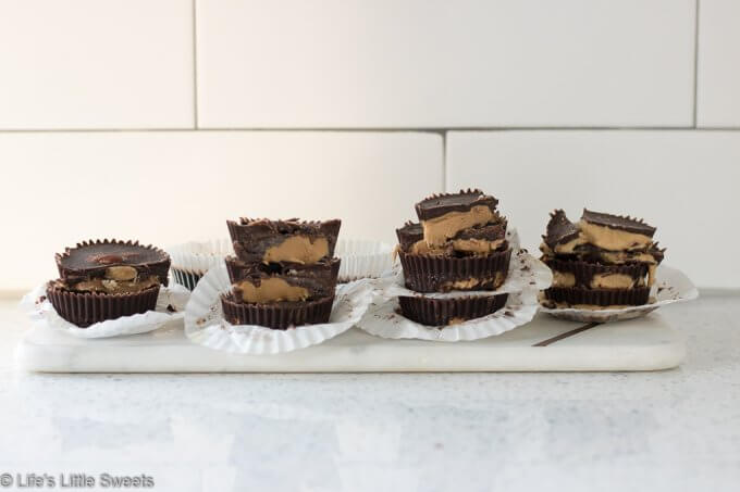 Nut Butter Cups are refined sugar free, take just minutes to make and have only 5 required ingredients. These chocolate-y, sweet, snacks are made with coconut oil, cocoa powder, almond butter, peanut butter, cashew butter and tahini (sesame seed butter) and you can customize this recipe with your favorite nut butter. #nutbutter #almondbuttercups #cashewbutter #tahini #peanutbuttercups #vegan #glutenfree #paleo #refinedsugarfree #vegetarian #dairyfree