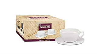 Konitz 275A110001 Two Giftboxed Cafe Latte Cups And Saucers (Set of 2) White