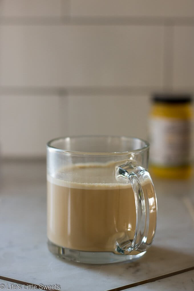 This Keto Butter Coffee Recipe is a satisfying, frothy & creamy cup of coffee, perfect to have in the morning. It's hot coffee blended with ghee (grass-fed, clarified butter) and MCT oil (medium-chain triglyceride extracted from coconut oil). #keto #buttercoffee #bulletproofcoffee #ketocoffee #recipe #MCToil #coconutoil #ghee #glutenfree #vegetarian #nocarb #nocarb #coffee #paleo