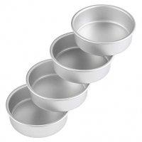 "Wilton Aluminum Round Cake Pan Set, 6"" x 2"" in., (4-Pack)"