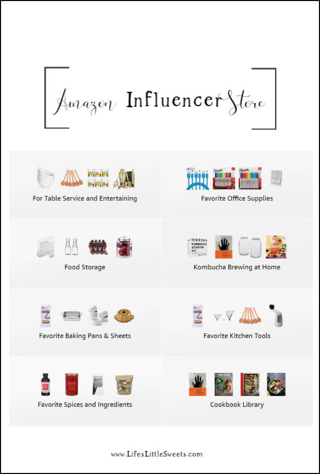 Amazon Influencer Store - We recently added an Amazon Influencer Storefront to our blog menu where you can see all the kitchen tools and household products we use! #Amazon #Influencer #affiliates #amazonstore