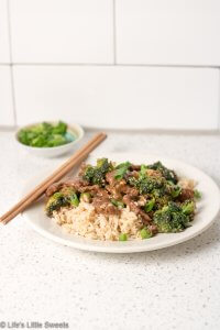 Homemade Beef and Broccoli over Brown Rice