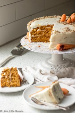 Homemade Classic Carrot Cake with Cream Cheese Frosting