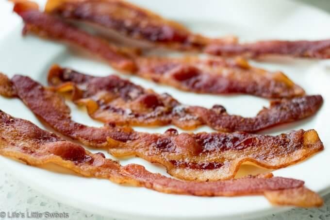 crispy Bacon on a white plate