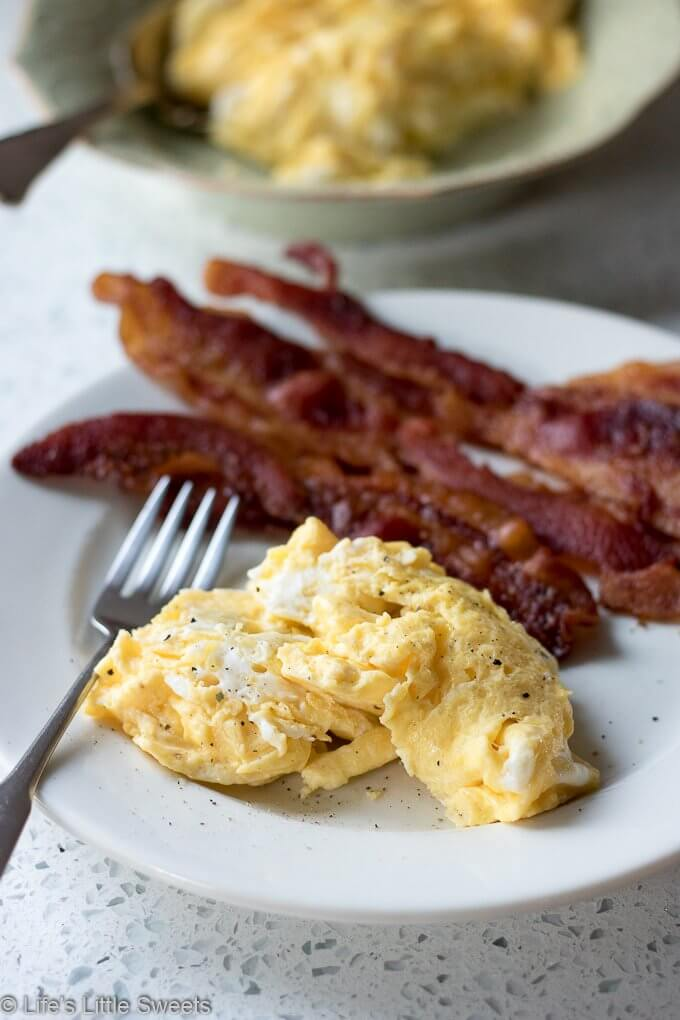 Scrambled Eggs in Bacon Fat