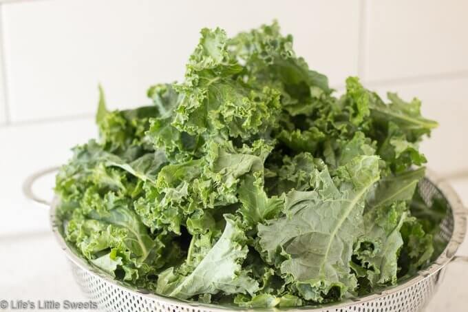 How to Make Kale Chips - washed kale