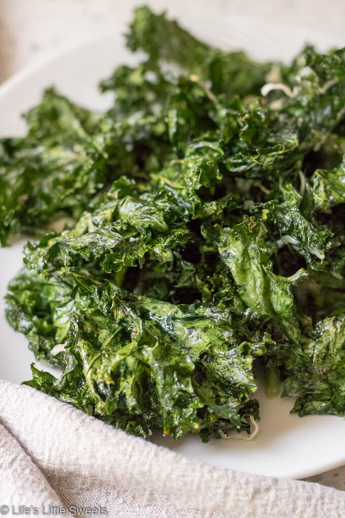 How to Make Kale Chips - plate of kale chips