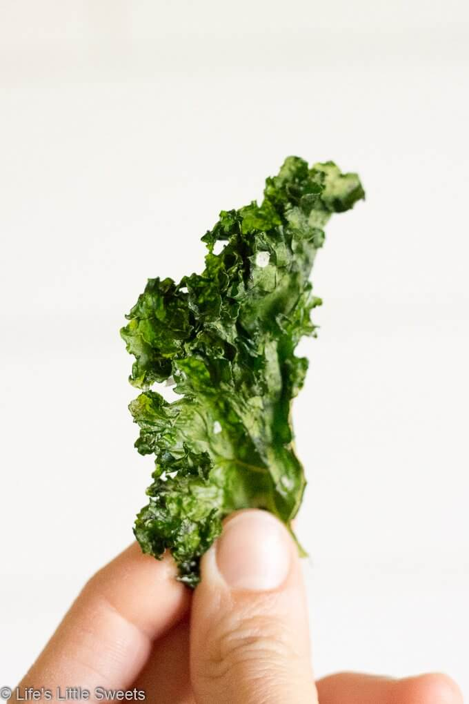 How to Make Kale Chips - one kale chip