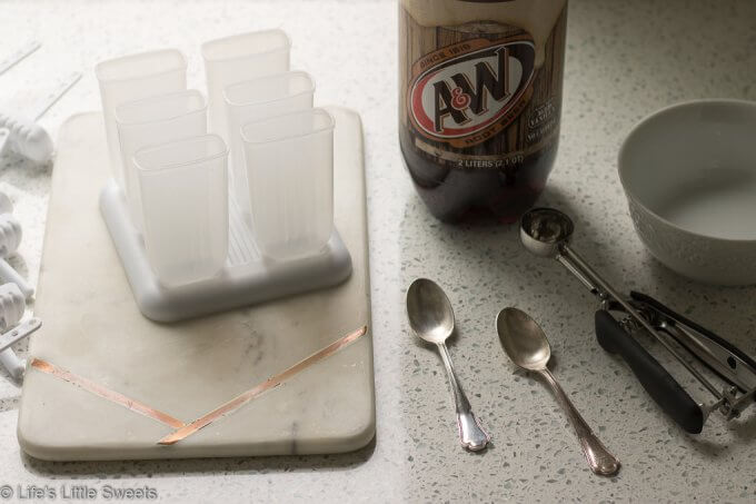 Root Beer Float Popsicles tools and ingredients - Root Beer Float Popsicles #ad #AWMemories