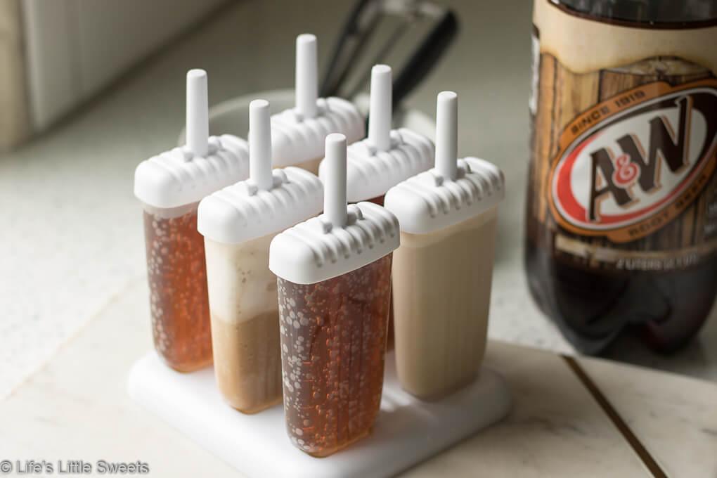 Root Beer Float Popsicles