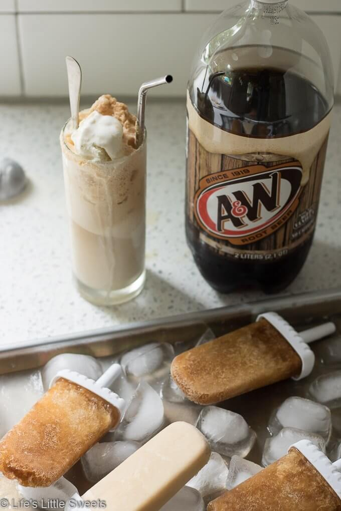 Root Beer Float Popsicles #ad #AWMemories
