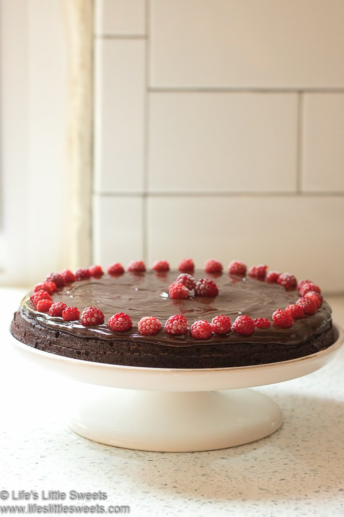 Flourless Chocolate Cake with Wineberries lifeslittlesweets.com 680x1020