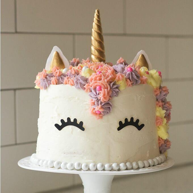 Phenomenal Unicorn Rainbow Cake Buttercream 5 Layer Cake Sprinkles Personalised Birthday Cards Arneslily Jamesorg
