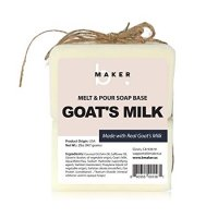 bMAKER All-Natural Goats Milk Melt and Pour Soap Base (2lb Blocks) - Moisturizing and Nourishing M&P Base Soap Making Supplies - Suitable for Sensitive or Dry Skin